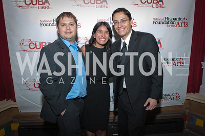 Rep. Ruben Gallego (D-AZ), Laura Marquez and Luis Miranda. La Gran Desvelada. Noche de Gala after party. Cuba Libre. Photo by Alfredo Flores. September 13, 2011