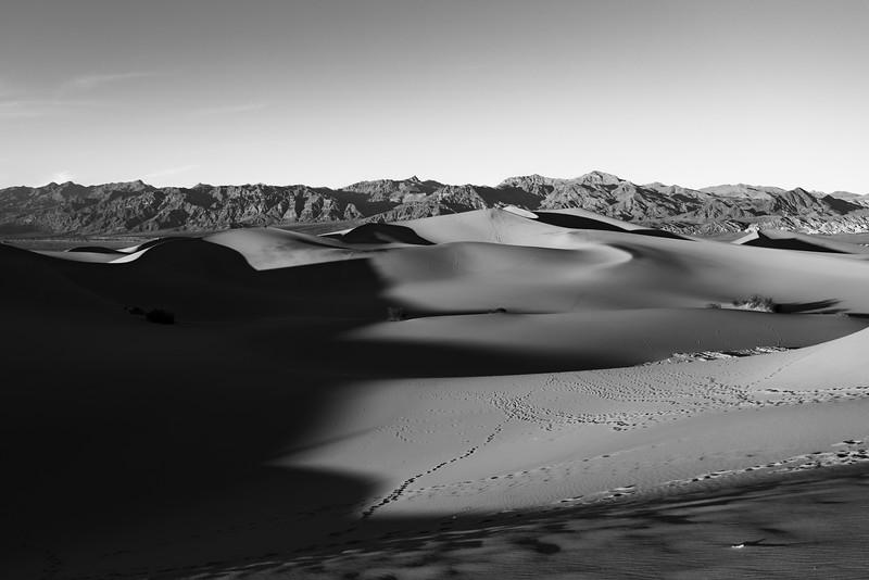 Mesquite Flat Sand Dunes BW