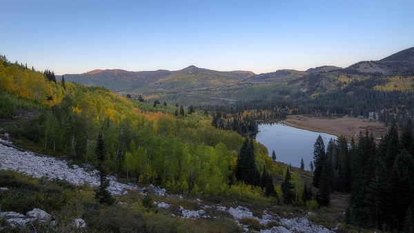 Fall in Big Cottonwood Canyon Above Silver Lake