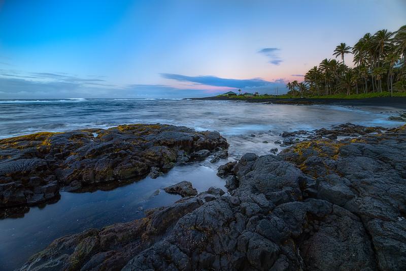 Sunrise at black sand beach