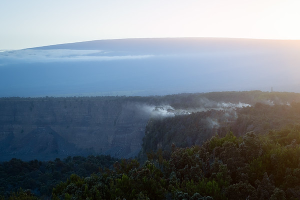 Kilauea with Mauna Loa in the Background