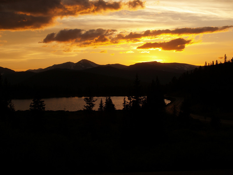 Sunset on Mount Evans, Colorado
