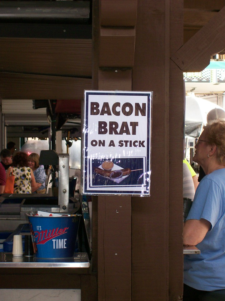 Bacon Brat on a stick
