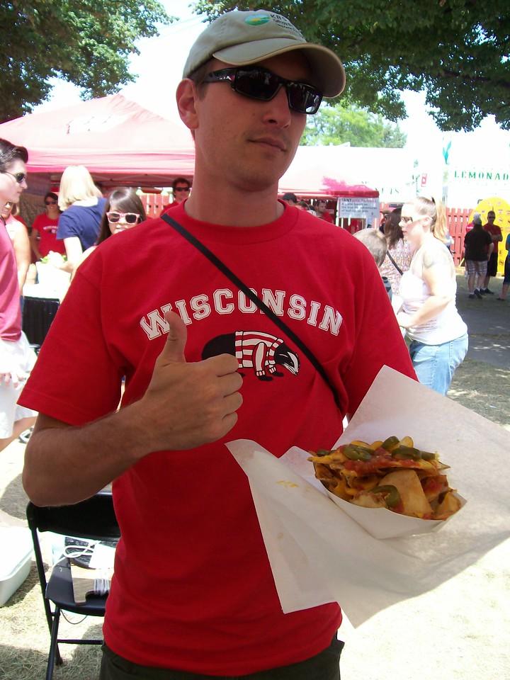 Center Outreach Coordinator, Adam Hinterthuer, finally settles on some fair food