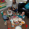 Tea and birthday cake with Monkey Music friends Estefano, Amelie and mummy Nicola