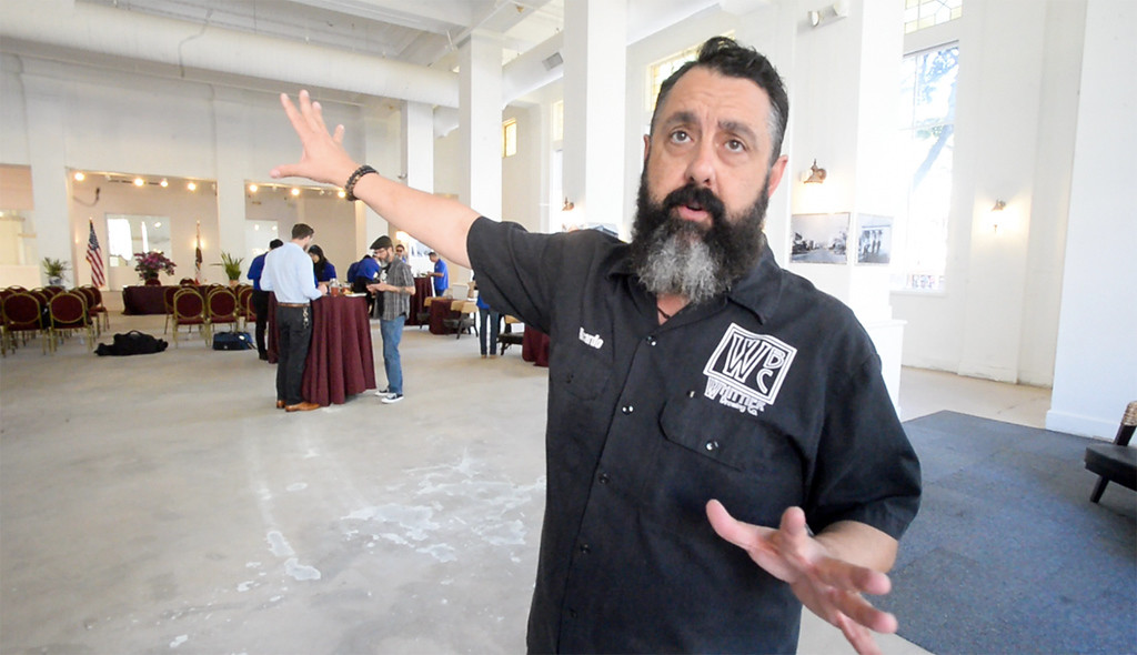 . Chef Ricardo Diaz talks about their plans to transform the first floor of the historic Nixon Plaza building in Uptown Whittier into the Whittier Brewing Company on Wednesday April 5, 2017. (Photo by Keith Durflinger/Whittier Daily News/SCNG)