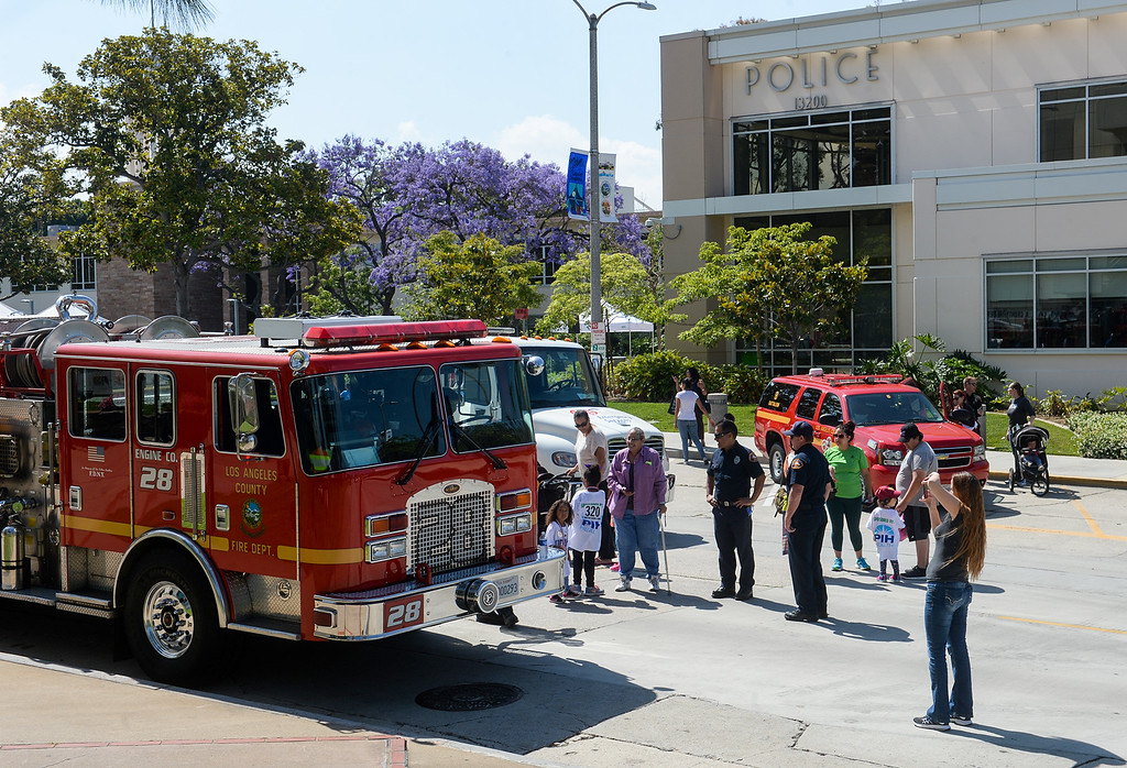 . The public attends the Whittier Police Department Open House on Penn Street in Whittier on Saturday May 13, 2017. (Photo by Keith Durflinger/Whittier Daily News/SCNG)