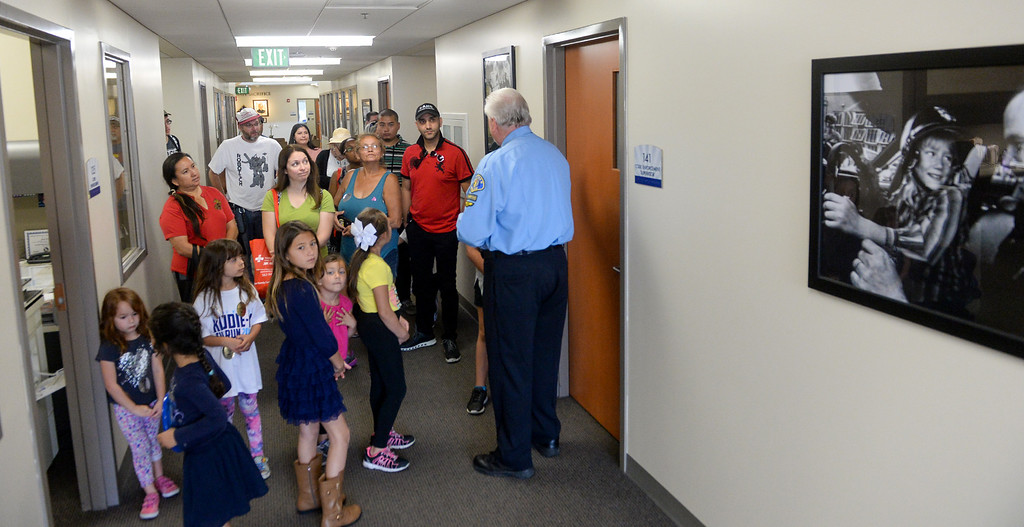 . The public takes a tour during the Whittier Police Department Open House on Penn Street in Whittier on Saturday May 13, 2017. (Photo by Keith Durflinger/Whittier Daily News/SCNG)