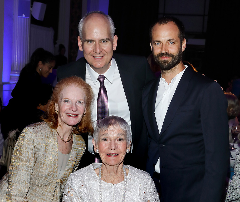 ". Bottom in white dress - honoree Alyce Williamson, in beige dress Carol Colburn Grigor,  Colburn President/CEO Sel Kardan and on far right - honoree Benjamin Millepied Gala on April 21.""Colburn School Gala 2017 (Photos by Craig T. Mathew/Mathew Imaging)"