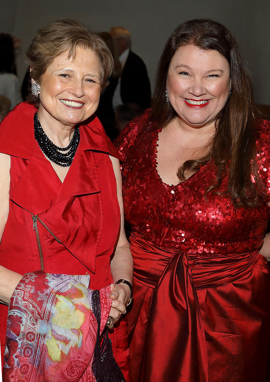 . From left, Deborah Borda (past president of the LA Phil) and Annette Ermshar  at Colburn School Gala 2017 (Photos by Craig T. Mathew/Mathew Imaging)