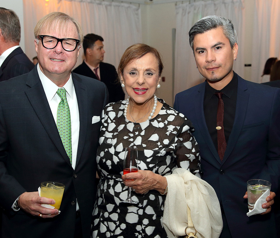 . Bea Bennett - one of the co-chairs, along with Jonathan Weedman, left, and Raymundo Baltazar, right, Colburn at School Gala 2017 (Photos by Greg Grudt/Mathew Imaging)