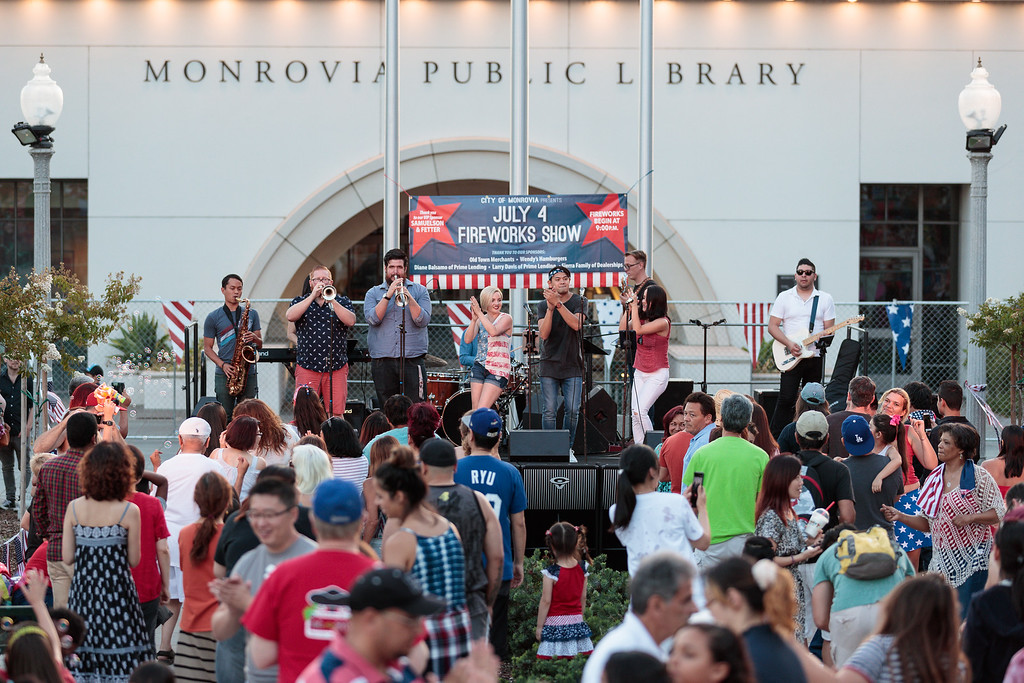 . The band Night Owl performs during the City of Monrovia 4th of July Concert and Fireworks Show at Liberty Park in Monrovia, Calif., on Tuesday July 4, 2017. (Photo by contributor Raul Romero Jr - raulromero@gmail.com)