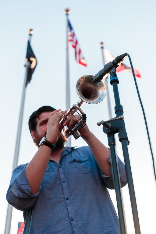 . A member of the band Night Owl performs during the City of Monrovia 4th of July Concert and Fireworks Show at Liberty Park in Monrovia, Calif., on Tuesday July 4, 2017. (Photo by contributor Raul Romero Jr - raulromero@gmail.com)
