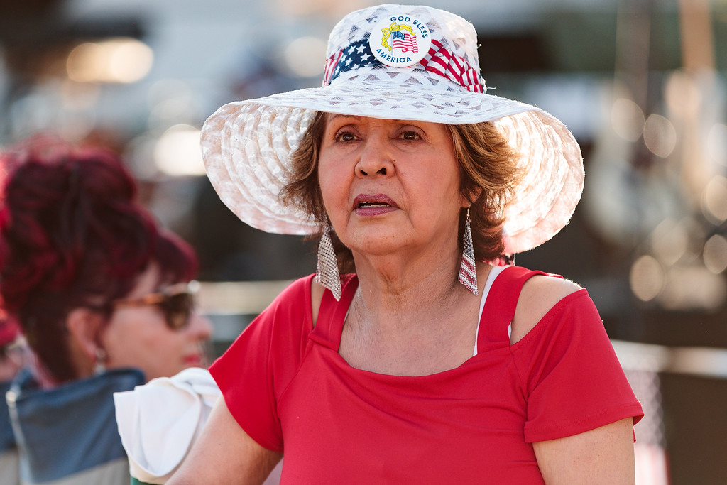 . Gloria Marin looks on during City of Monrovia 4th of July Concert and Fireworks Show at Liberty Park in Monrovia, Calif., on Tuesday July 4, 2017. (Photo by contributor Raul Romero Jr - raulromero@gmail.com)