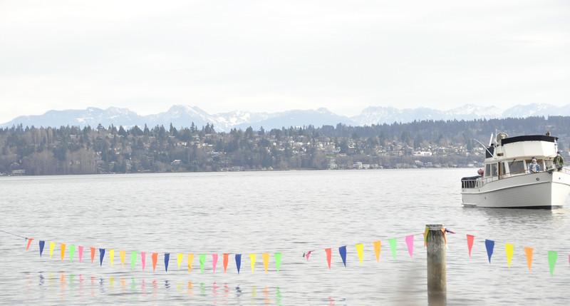 Cascade Mountains over Lake Washington