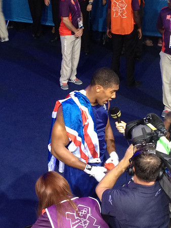 Britain's Anthony Joshua took super heavy gold