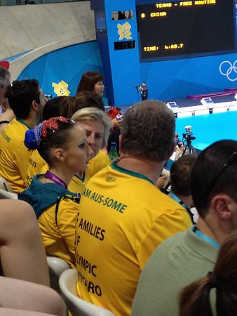Australian swimmer and her family