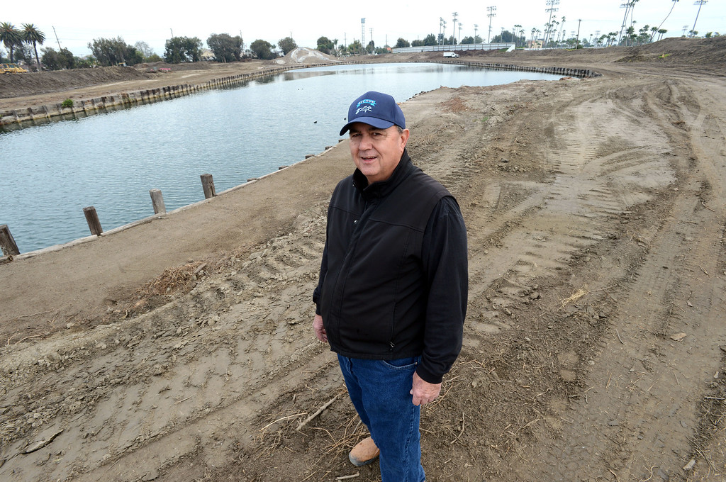 . Race track consultant Dennis Moore, on the site where construction crews are expanding Los Alamitos Race Course. The course will add thoroughbred racing next year, to compensate for loss of the closed Hollywood Park Racetrack.   Los Alamitos, Calif. Wednesday December 18, 2013.   (Photo by Stephen Carr / Daily Breeze)