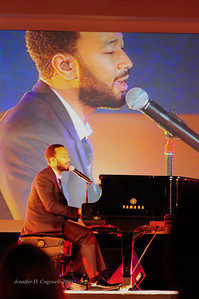 John Legend performs at Paramount Studios during Los Angeles Summit Entertainment Industry Foundation sponsored event Photo: Jennifer Cogswell