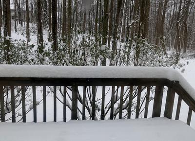 2014-03-17 St. Patrick's Day Snow, Ellicott City MD!