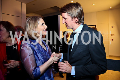 "Jackie Dodd, ""The King's Speech"" director Tom Hooper. Photo by Tony Powell. MPAA WHCD VIP Party. April 29, 2011"
