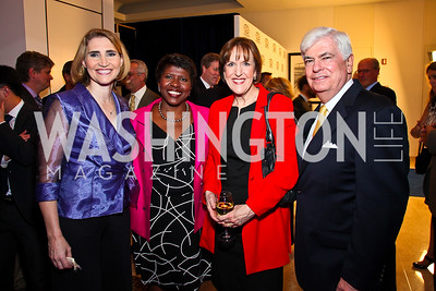 Jackie Dodd, Gwen Ifill, Karen Tumulty, Sen. Chris Dodd. Photo by Tony Powell. MPAA WHCD VIP Party. April 29, 2011