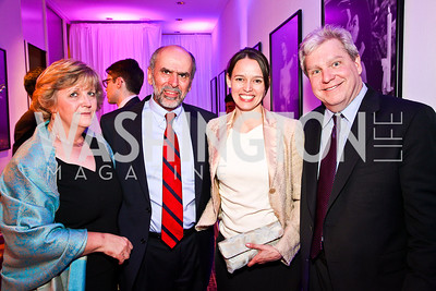 Barbara Rosewicz, Jerry Seib, Nicole Mlade, Joe Lockhart. Photo by Tony Powell. MPAA WHCD VIP Party. April 29, 2011