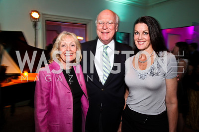 Marcelle and Sen. Patrick Leahy and Alicia Leahy Jackson. Photo by Tony Powell. MPAA WHCD VIP Party. April 29, 2011