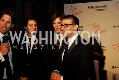 Louis Burgdorf, Andy Sandberg, Bill Hader, Fred Armisen, MSNBC WHCD After Party, April 30, 2011, Kyle Samperton