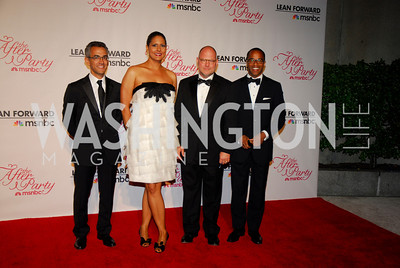Richard Wolfe, Karen Finney, Jimmy Williams, Jonathan Capehart, MSNBC WHCD After Party, April 30, 2011, Kyle Samperton