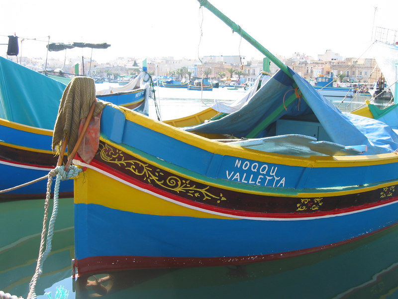 Fishing boat in Luzza