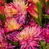 Flower Display, Market Trader Stall, Pike Place Market, Seattle, Washington