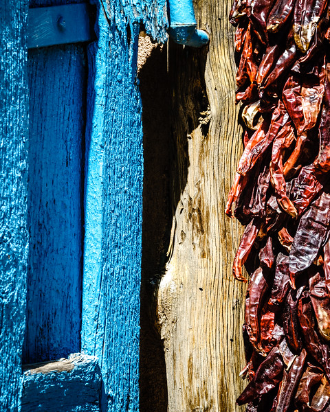 Turquoise Door and Dried Chillies, Taos, New Mexico
