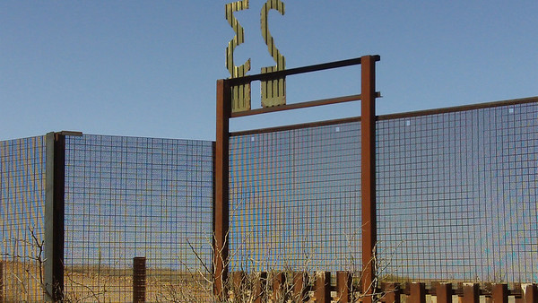 the border fence outside Naco