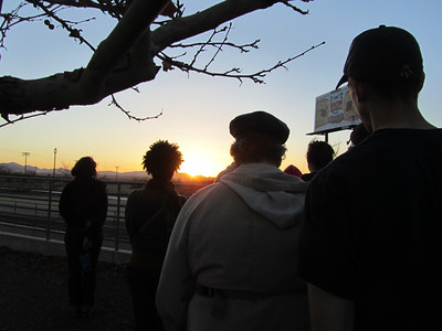 Day 1 activities ended with a silent watching of the sunset at the end of the prayer vigil.
