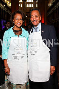 Eulada Watt and North Carolina Rep. Mel Watt. Photo by Tony Powell. March of Dimes Gourmet Gala. Building Museum. May 4, 2011