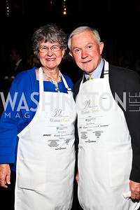 Mary Sessions and Alabama Sen. Jeff Sessions. Photo by Tony Powell. March of Dimes Gourmet Gala. Building Museum. May 4, 2011