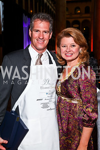 Massachusetts Sen. Scott Brown and Gail Huff. Photo by Tony Powell. March of Dimes Gourmet Gala. Building Museum. May 4, 2011