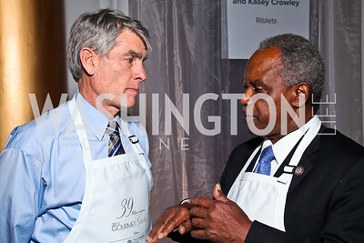Colorado Sen. Mark Udall, Georgia Rep. David Scott. Photo by Tony Powell. March of Dimes Gourmet Gala. Building Museum. May 4, 2011