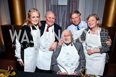 Debbie Dingell, Michigan Sen. Carl Levin, Michigan Rep. John Dingell, Michigan Rep. Fred Upton and Amey Upton. Photo by Tony Powell. Gourmet Gala. Building Museum. May 4, 2011