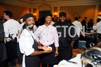 Steven Hughes,Karida Celestine,Tyrone Taylor,November 16,2011,March of Dimes Signature Chefs Auction,Kyle Samperton