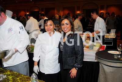 Blanca Sanchez,Gina Dakouni,November 16,2011,March of Dimes Signature Chefs Auction,Kyle Samperton