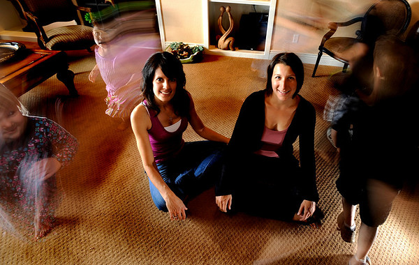 Amanda Hanson (cq)(left) and Judith Nowlin developed the iBirth application to help today's expectant moms with informantion about thier pregnancy photographed at Hanson's home in Superior, Colorado May 19, 2010.  CAMERA/Mark Leffingwell