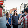 Kaitlyn Farrington and Devin Logan<br /> The North Face store opening on Park City Main Street<br /> Photo: Justin Samuels/USSA