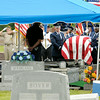 Don Knight | The Herald Bulletin<br /> An Air Force funeral detail carries Howard Martin to his grave site at the Elwood Cemetery on Saturday. Martin was killed in 1952 when the C-124 Globemaster he was aboard crashed into Mt. Gannett killing all 52 aboard.