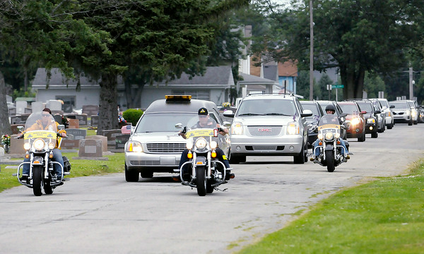 Don Knight   The Herald Bulletin<br /> Howard Martin was laid to rest at the Elwood Cemetery on Saturday.