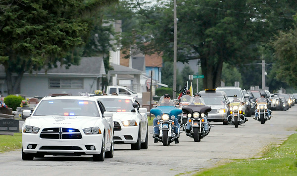 Don Knight | The Herald Bulletin<br /> Howard Martin was laid to rest at the Elwood Cemetery on Saturday.