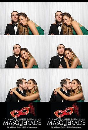 Spinsters Masquerade Photo Booth Strips