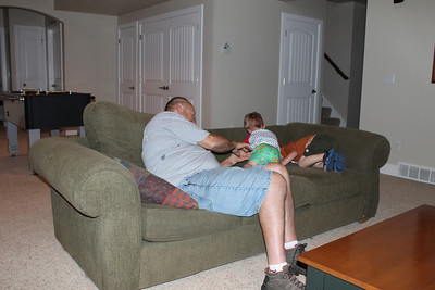 Wresting with Grandpa Gray