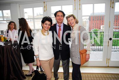 Shamin Jawad, Said Jawad, Diana Negroponte, McLaughlin/Reuters Brunch at the Hay-Adams, May 1, 2011, Kyle Samperton
